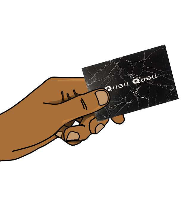 business card HAND